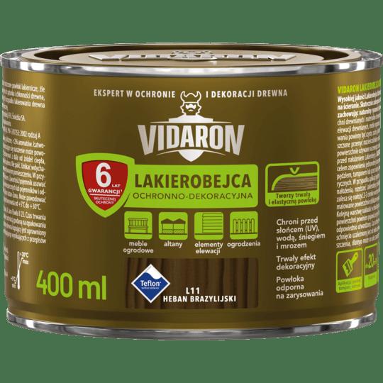 VIDARON Lakierobejca Ochronno-Dekoracyjna heban brazylijski 0,4 L