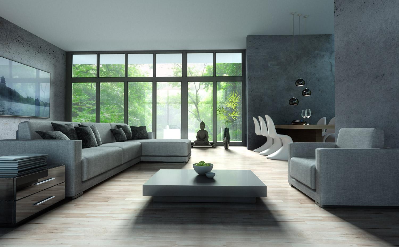 5 pomysłów na beton architektoniczny w salonie