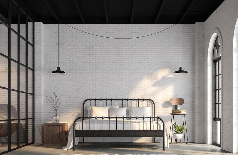 Ciemny sufit w sypialni pomysły na aranżacje.jpg