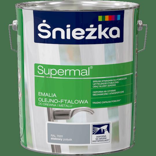 ŚNIEŻKA Supermal® Emalia Olejno-ftalowa Połysk RAL7001 10 L