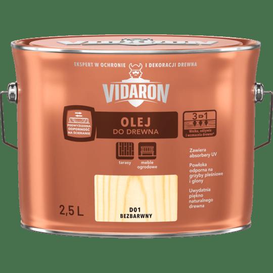 VIDARON Olej Do Drewna bezbarwny 2,5 L