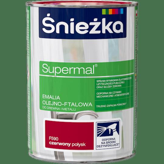 ŚNIEŻKA Supermal® Emalia Olejno-ftalowa Połysk czerwony 0,8 L