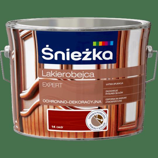 ŚNIEŻKA Lakierobejca Expert Ochronno-Dekoracyjna cedr 2,5 L