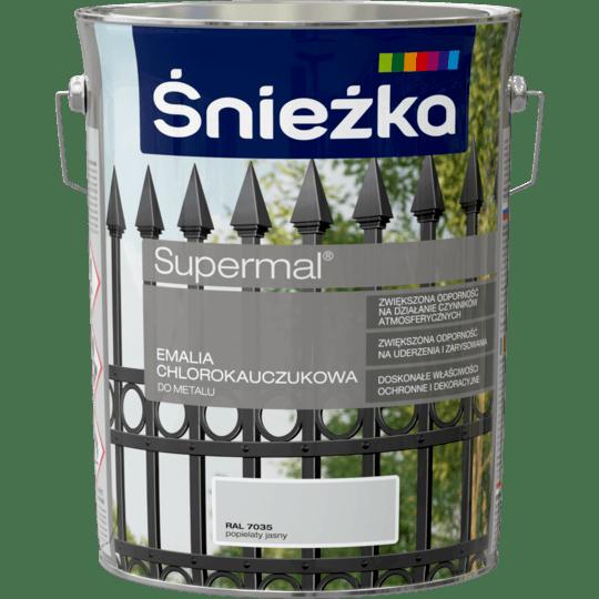 ŚNIEŻKA Supermal® Emalia Chlorokauczukowa RAL7035 5 L