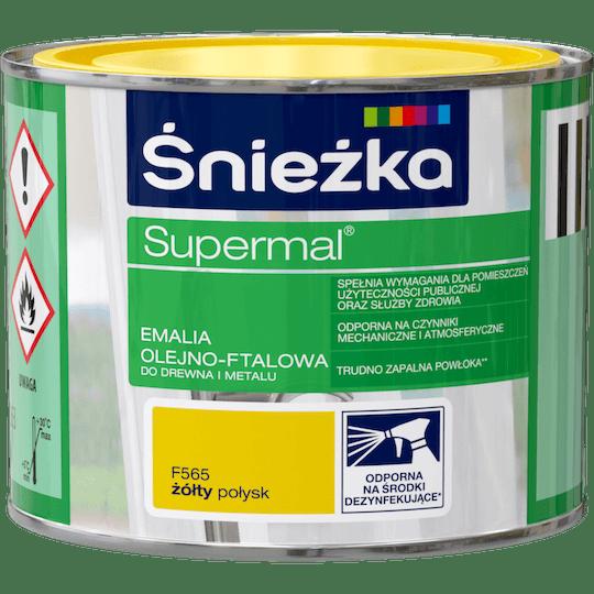 ŚNIEŻKA Supermal® Emalia Olejno-ftalowa Połysk żółty 0,2 L