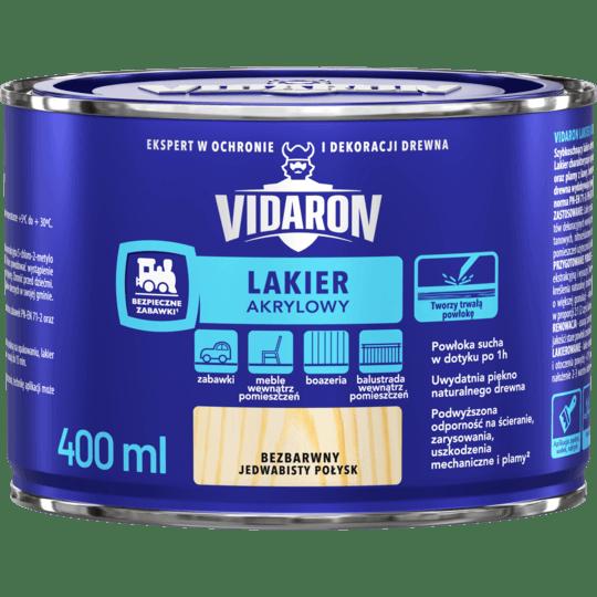 VIDARON Lakier Akrylowy bezbarwny 0,4 L