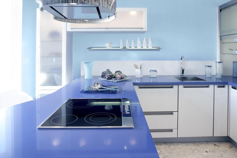 Kuchnia w żywych barwach - MAGNAT Ceramic Kitchen&Bathroom B14 bystry tanzanit