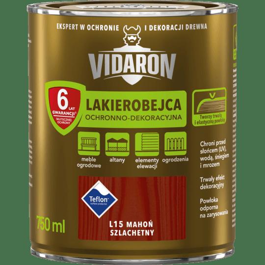 VIDARON Lakierobejca Ochronno-Dekoracyjna mahoń szlachetny 0,75 L