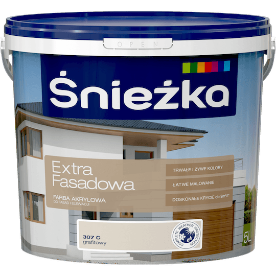 ŚNIEŻKA Extra Fasadowa grafitowy C 5 L