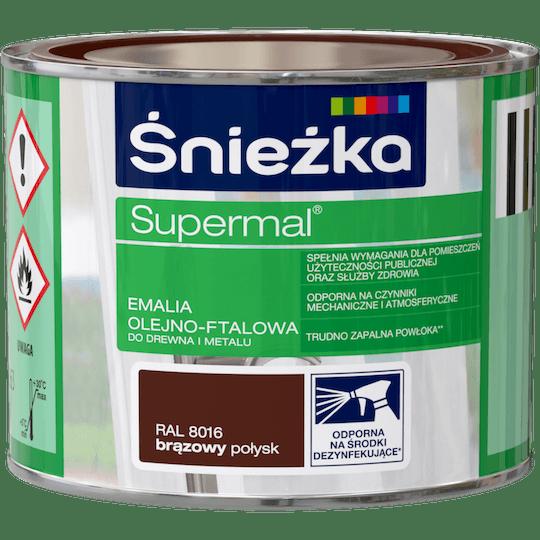 Śnieżka Supermal Эмаль Масляно-Фталевая RAL8016 0,2 л