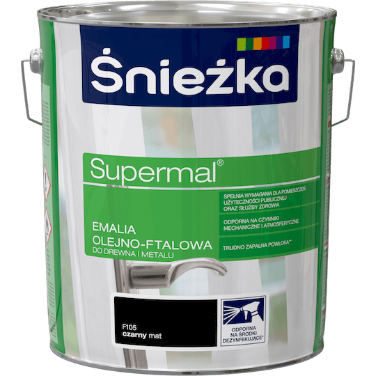 Śnieżka Supermal Oil and Alkyd Enamel black 10 L