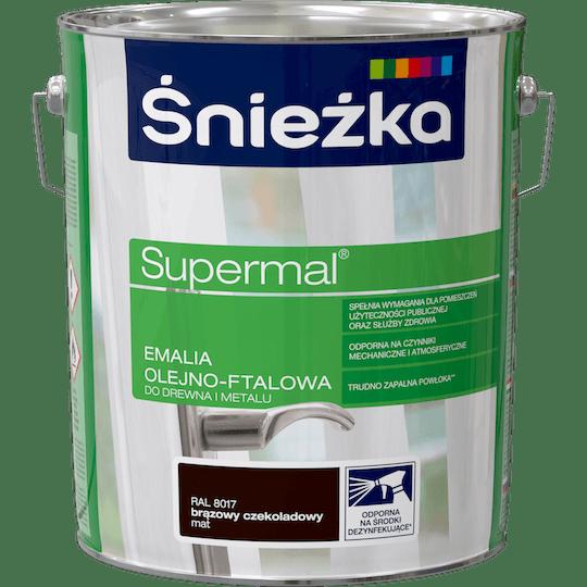Śnieżka Supermal Oil and Alkyd Enamel RAL8017 10 L