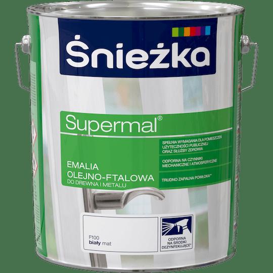 ŚNIEŻKA Supermal® Emalia Olejno-ftalowa Mat biały 10 L