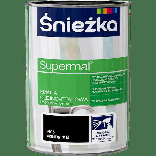 Śnieżka Supermal Oil and Alkyd Enamel black 0,8 L