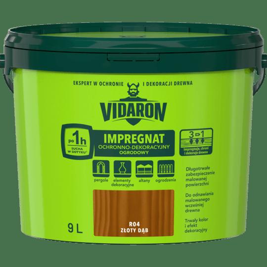 VIDARON Impregnat Ochronno-Dekoracyjny Ogrodowy złoty dąb 9 L