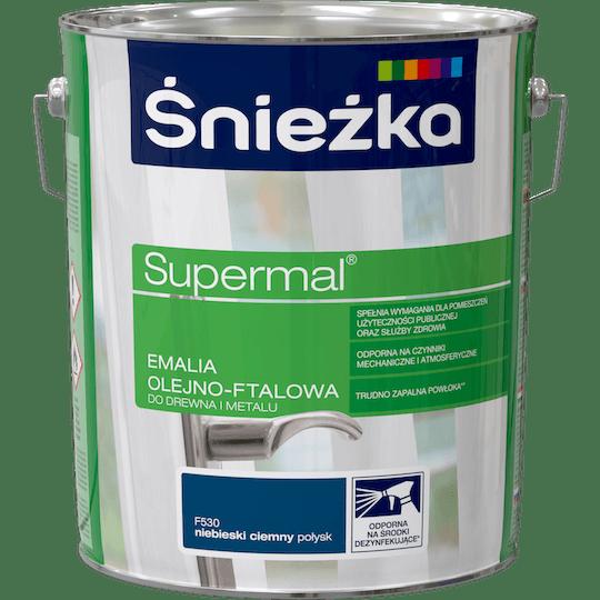 Śnieżka Supermal Oil and Alkyd Enamel dark blue 10 L