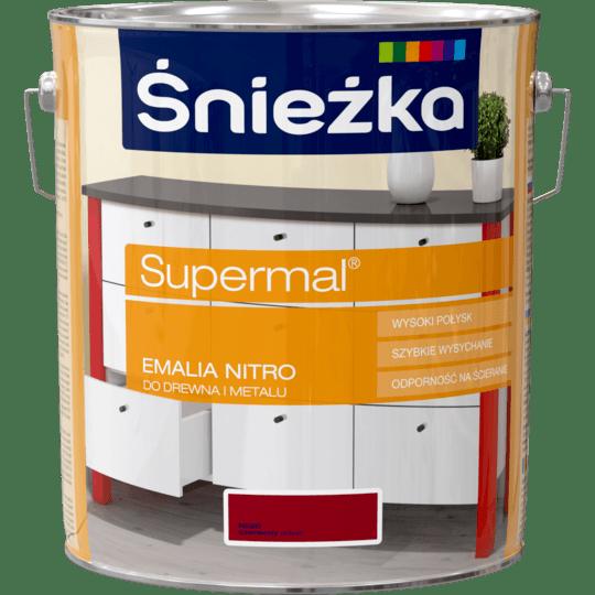 ŚNIEŻKA Supermal® Emalia Nitro połysk czerwony 10 L