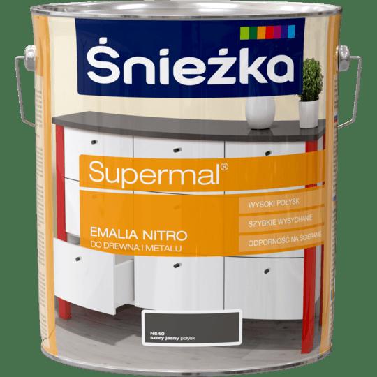 ŚNIEŻKA Supermal® Emalia Nitro połysk szary jasny 10 L