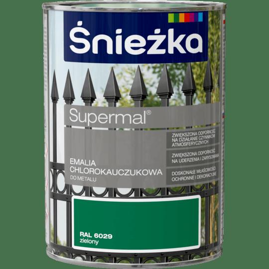 ŚNIEŻKA Supermal® Emalia Chlorokauczukowa RAL6029 0,9 L