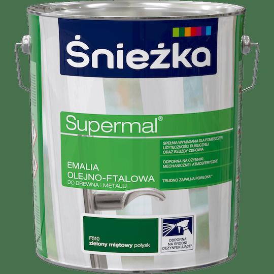ŚNIEŻKA Supermal® Emalia Olejno-ftalowa Połysk zielony mięta 10 L