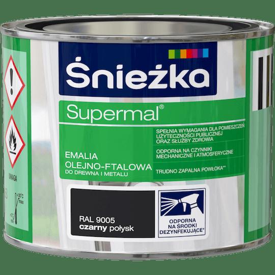Śnieżka Supermal Oil and Alkyd Enamel RAL9005 0,2 L