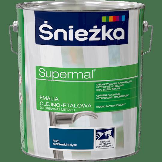 ŚNIEŻKA Supermal® Emalia Olejno-ftalowa Połysk niebieski 10 L