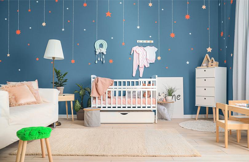 Kolory ścian w pokoju dziecka z akcentami kosmosu - inspiracje.jpg