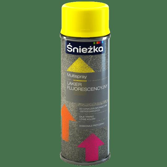 ŚNIEŻKA Multispray Lakier Fluorescencyjny żółty cytrynowy 0,4 L