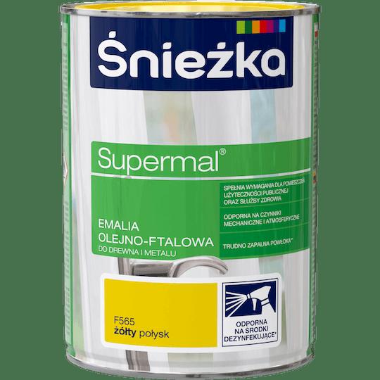 ŚNIEŻKA Supermal® Emalia Olejno-ftalowa Połysk żółty 0,8 L