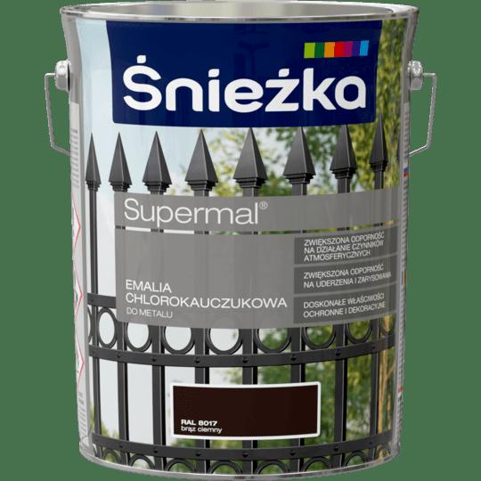 ŚNIEŻKA Supermal® Emalia Chlorokauczukowa RAL8017 5 L