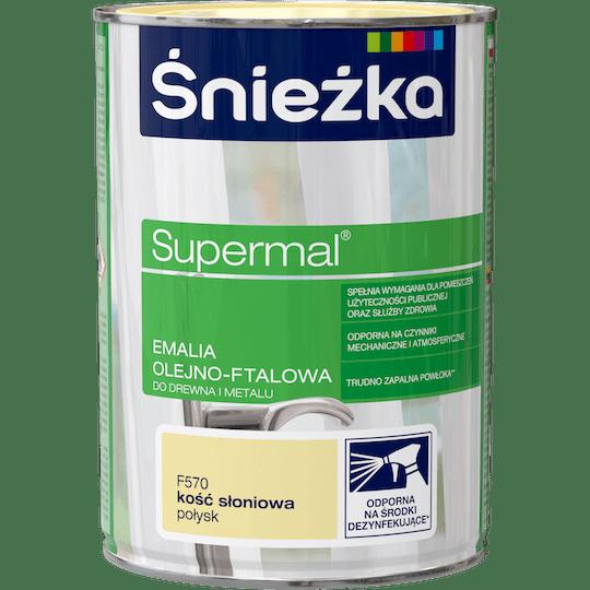 ŚNIEŻKA Supermal® Emalia Olejno-ftalowa Połysk kość słoniowa 0,8 L