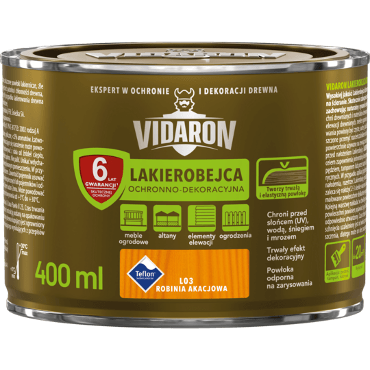 VIDARON Lakierobejca Ochronno-Dekoracyjna robinia akacjowa 0,4 L