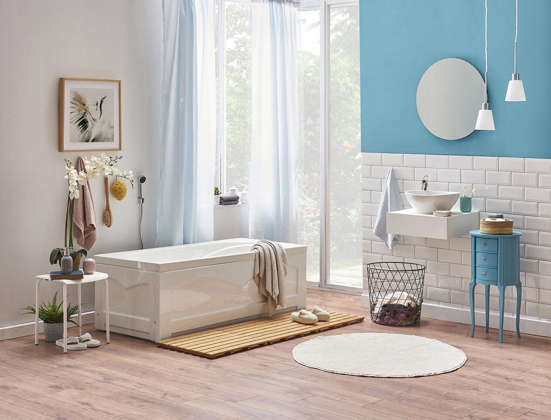 Niebieska łazienka – MAGNAT Creative Kitchen&Bathroom KB12 wodny szmaragd