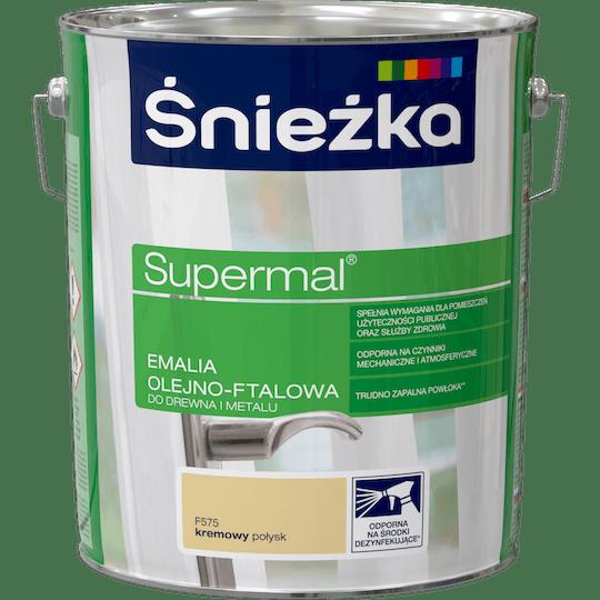 ŚNIEŻKA Supermal® Emalia Olejno-ftalowa Połysk kremowy 10 L