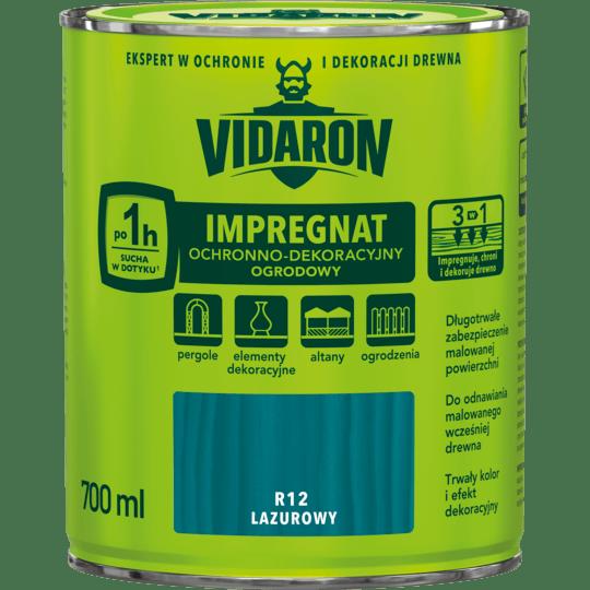 VIDARON Impregnat Ochronno-Dekoracyjny Ogrodowy lazurowy 0,7 L