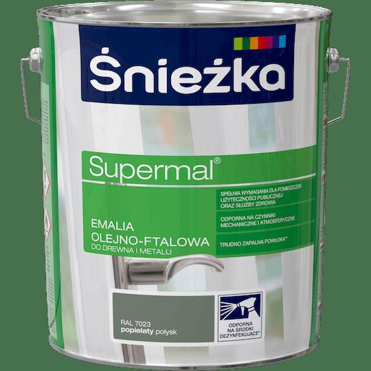 ŚNIEŻKA Supermal® Emalia Olejno-ftalowa Połysk RAL7023 10 L
