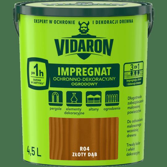 VIDARON Impregnat Ochronno-Dekoracyjny Ogrodowy złoty dąb 4,5 L