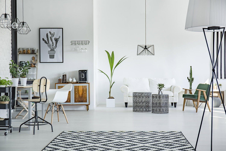 Salon w nowoczesnym stylu skandynawskim 1