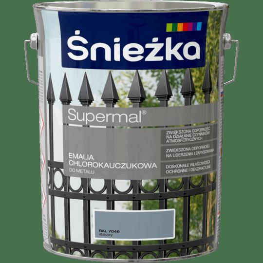 ŚNIEŻKA Supermal® Emalia Chlorokauczukowa RAL7046 5 L