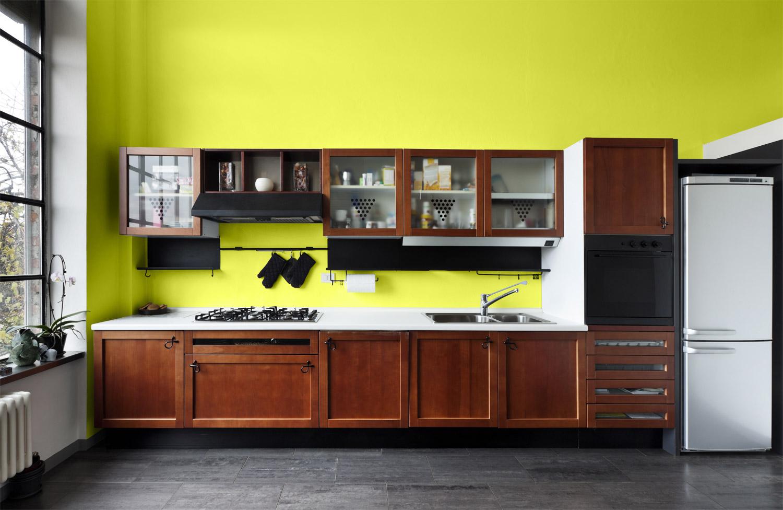 Kolor zielony w kuchni - MAGNAT Ceramic Kitchen&Bathroom B15 świeży turmalin