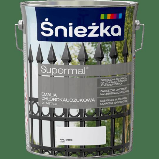 ŚNIEŻKA Supermal® Emalia Chlorokauczukowa RAL9003 5 L