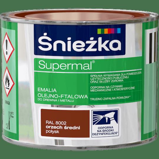 Śnieżka Supermal Oil and Alkyd Enamel RAL8002 0,2 L