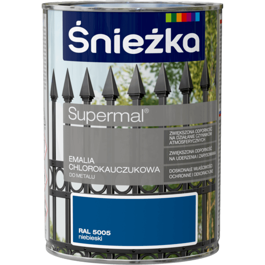 ŚNIEŻKA Supermal® Emalia Chlorokauczukowa RAL5005 0,9 L