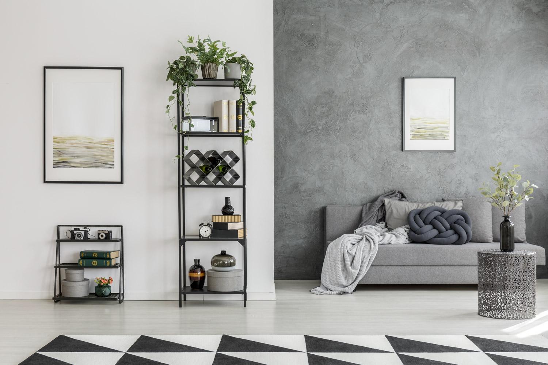 Efekt betonu na ścianie – nie tylko do loftu
