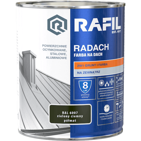 RAFIL Radach Farba Na Dach RAL6007
