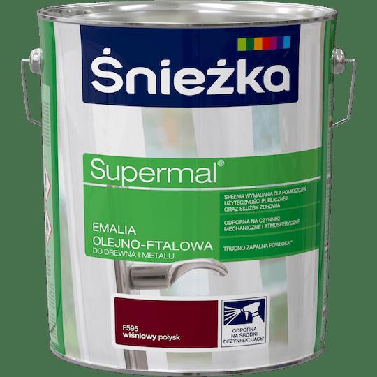 ŚNIEŻKA Supermal® Emalia Olejno-ftalowa Połysk wiśniowy 10 L