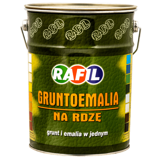 RAFIL Gruntoemalia Na Rdzę RAL8017 5 L