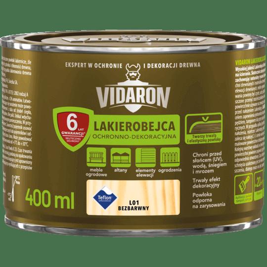 VIDARON Lakierobejca Ochronno-Dekoracyjna bezbarwny 0,4 L