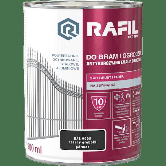 RAFIL Do Bram i Ogrodzeń Półmat RAL9005