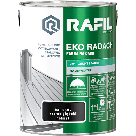 RAFIL Eko-Radach Farba Na Dach RAL9005